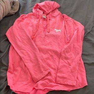 Pink v neck pullover